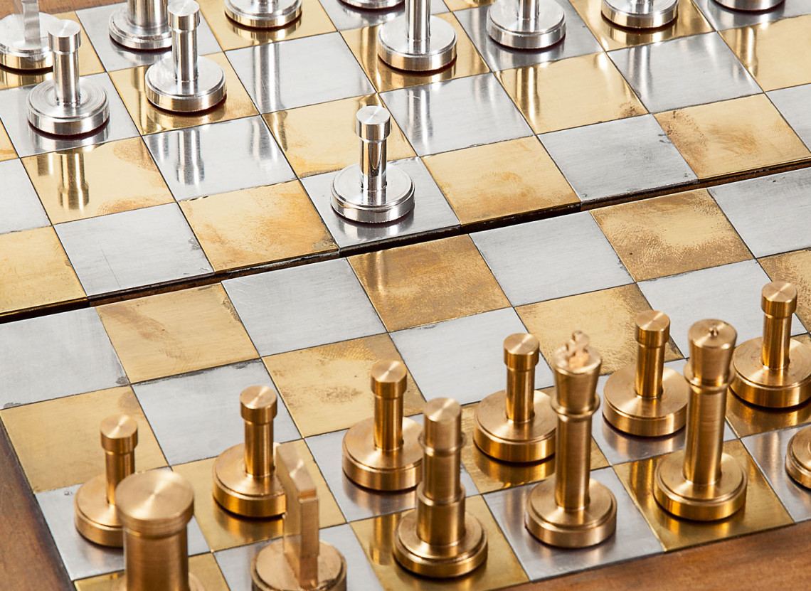 chess_set_brass_aluminum_homemade_board_game_analog_games_01