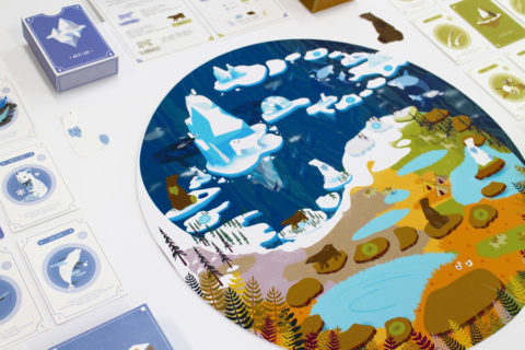 ' ' from the web at 'http://www.analoggames.com/wp-content/uploads/2017/12/polar_bear_grizzly_bear_global_climate_change_board_game_tabletop_serious_game_card_game_indie_analog_games_01-480x320.jpg'